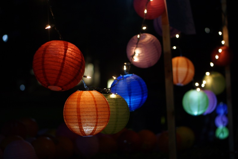 Colorful lanterns ready to be sold to students for the celebration. (Heather Kim/Bloc Photographer)