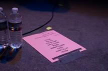 A setlist for Thursday night's performance at 9:30 Club. (Cassie Osvatics/Bloc Photographer)