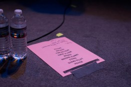 A setlist for Thursday night's performance at 9:30 Club. (Cassie Osvatics/Bloc Photographer)