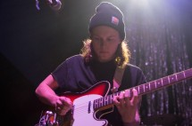 Lead guitarist Nathan Stocker of Hippo Campus as they open for Saint Motel at 9:30 Club. (Cassie Osvatics/Bloc Photographer)