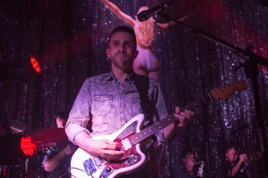 Lead guitarist for Saint Motel, Aaron Sharp, performing at 9:30 Club. (Cassie Osvatics/Bloc Photographer)