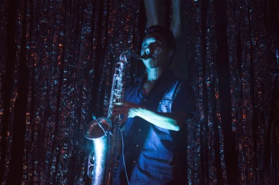 Saint Motel is comprised of four constant members, but brings on a new trumpeter and saxophonist for each performance. (Cassie Osvatics/Bloc Photographer)
