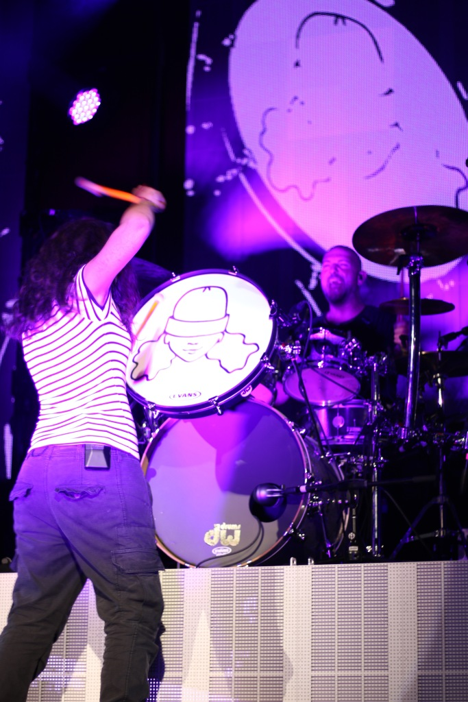 Alessia Cara bangs on the drums while performing at the Fillmore Silver Spring on Thursday, Sept 29, 2016. (Casey Tomchek/Freelance Photographer)