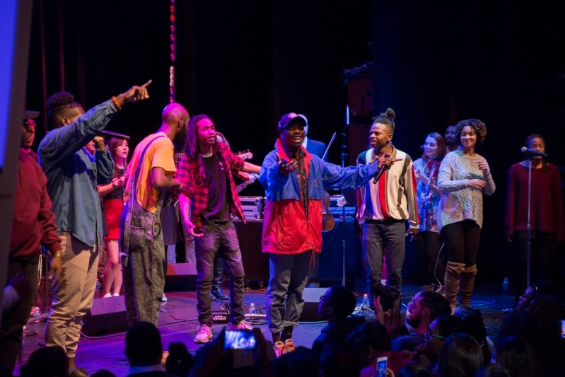The Hip Hop Orchestra plays for a packed crowd at the Kennedy Center in Washington, D.C., Nov. 6 2016