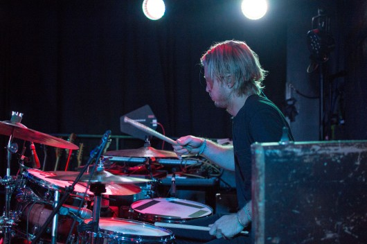Drummer of The Shelters, Sebastian Harris, peforms at U Street Music Hall on the Alt Nation Advanced Placement Tour. (Cassie Osvatics/Bloc Reporter)