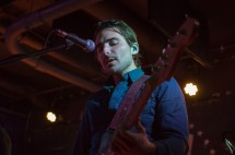 Bassist of The Shelters, Jacob Pillot, peforms at U Street Music Hall on the Alt Nation Advanced Placement Tour. (Cassie Osvatics/Bloc Reporter)