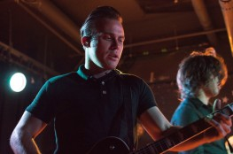Vocalist and guitarist of The Shelters, Josh Jove, peforms at U Street Music Hall on the Alt Nation Advanced Placement Tour. Pictured right, vocalist and guitarist Chase Simpson. (Cassie Osvatics/Bloc Reporter)