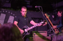 Vocalist and guitarist of The Shelters, Josh Jove, peforms at U Street Music Hall on the Alt Nation Advanced Placement Tour. Pictured right, bassist Jacob Pillot(Cassie Osvatics/Bloc Reporter)