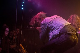 Chase Lawrence, synth and vocals of COIN, energized the crowd with his non-stop dance moves as they opened for Bad Suns at Rock and Roll Hotel in D.C. (Cassie Osvatics/Bloc Reporter)