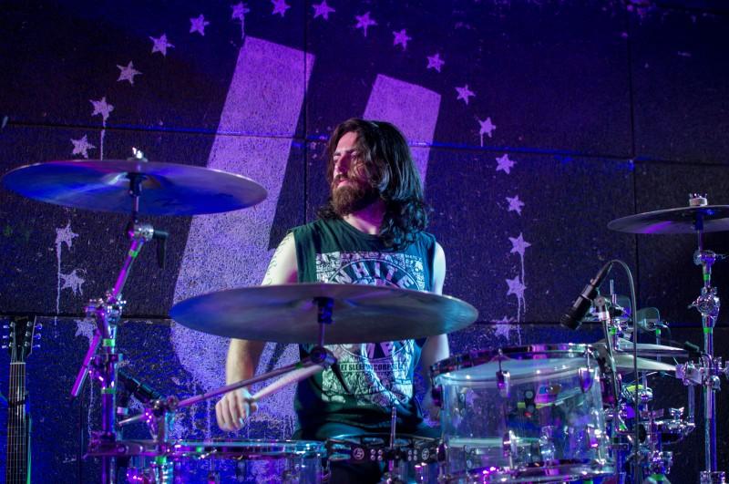 Ralph Alexander, drummer of CRX performing at U Street Music Hall. (Cassie Osvatics/Bloc Reporter)