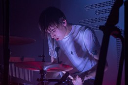 Drummer of Bad Suns, Miles Morris, during their performance at Rock and Roll Hotel in D.C. (Cassie Osvatics/Bloc Reporter)