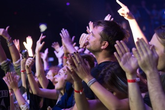 Fans in the crowd clap their hands during FOALS set at Echostage on Nov. 4. (Casey Tomchek/Freelance Photographer)
