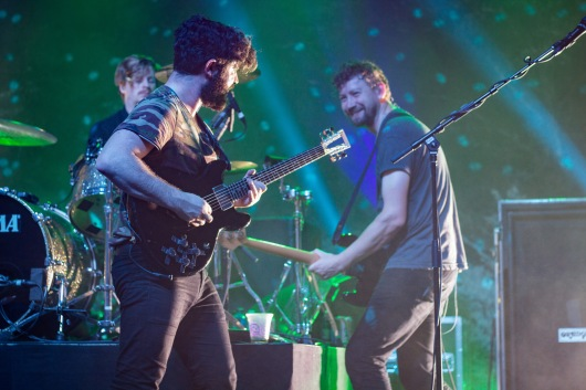 FOALS members, Yannis Philippakis and Walter Gerver, perform at Echostage on Nov. 4. (Casey Tomchek/Freelance Photographer)