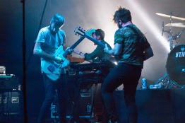 Jimmy Smith and Yannis Philippakis of FOALS play guitar during a performance at Echostage on Nov. 4. (Casey Tomchek/Freelance Photographer)