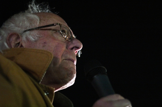 Sen. Bernie Sanders (D-Vt.) appeared at the march outside of the White House, where he spoke to a crowd of hundreds of people regarding climate change, clean water, and the environmental impact of humans. (Julia Lerner/Bloc Photographer)