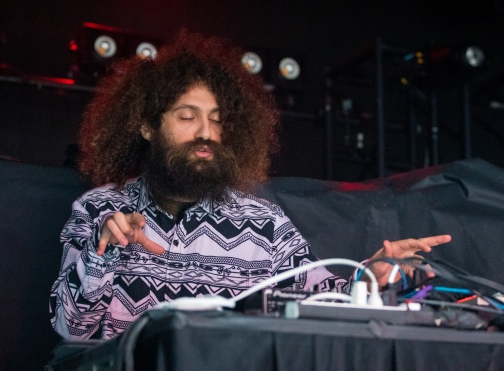 The Gaslamp Killer played a variety of songs, each with a heavy bass that shook the entire room while dancing erratically, flailing his considerable mane of hair around in the process at Echostage in Washington D.C. on Jan. 19, 2017.