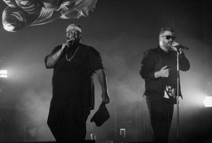 """The RTJ duo met in 2012, when El-P produced Killer Mike's entire album """"R.A.P. Music,"""" forming a bond that would turn into Run the Jewels, arguably either artist's most successful project to date, at Echostage in Washington D.C. on Jan. 19, 2017. Killer Mike and El-P who have both been active in the rap scene since the 90s, are both 41 years old, at Echostage in Washington D.C. on Jan. 19, 2017."""