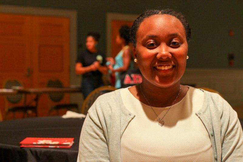 Skye Stewart, a junior communications major. (Naema Ahmed/Bloc Photographer)