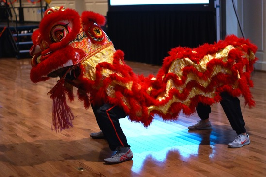 The Jow Ga Lion & Dragon Dance Team excited the entire ballroom with a thrilling performance of traditional Chinese Lion Dance. (Heather Kim/Bloc Photographer)