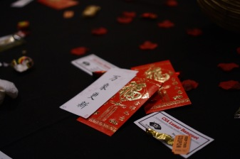 The decorative red envelopes also stand for good luck within Chinese culture. (Heather Kim/Bloc Photographer)