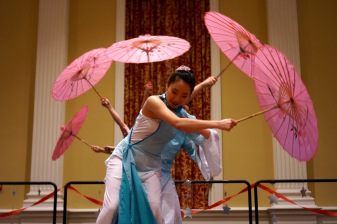 The dance team performs folk and traditional Chinese dance. (Heather Kim/Bloc Photographer)