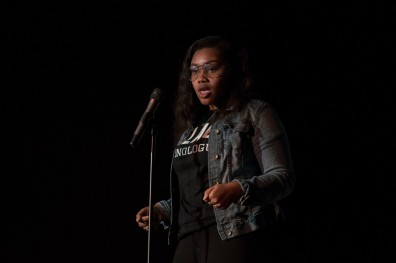 Freshman Global International Studies major Ashley Edwards performs ...