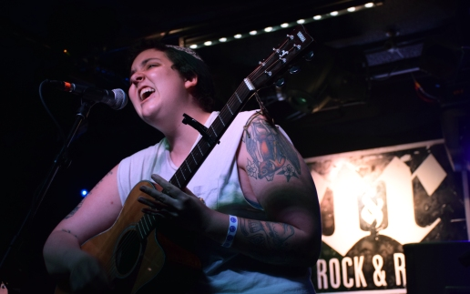 Philadelphia folk rock singer Shannen Moser opens for Pinegrove at Rock & Roll Hotel Saturday April 29, 2017 (Jordan Stovka/Bloc Reporter).