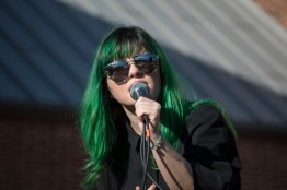 Singer Phoebe Ryan gives an exciting performance at Terpstock at the Nyumburu Amphitheater. (Cassie Osvatics/Bloc Reporter)