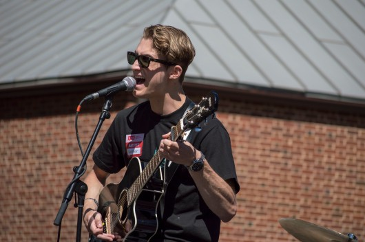 Hunter Smith peforms at Terpstock at the Nyumburu Amphitheater. (Cassie Osvatics/Bloc Reporter)