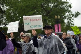 Scientists and marchers from around the country came to protest Trump's policies and fight for funding for a number of different agencies that will lose federal funding under Trump's administration. (Julia Lerner/The Writer's Bloc)