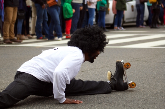Many roller-skated through the parade, showing off their tricks and moves in the process. (Julia Lerner/Writer's Bloc)