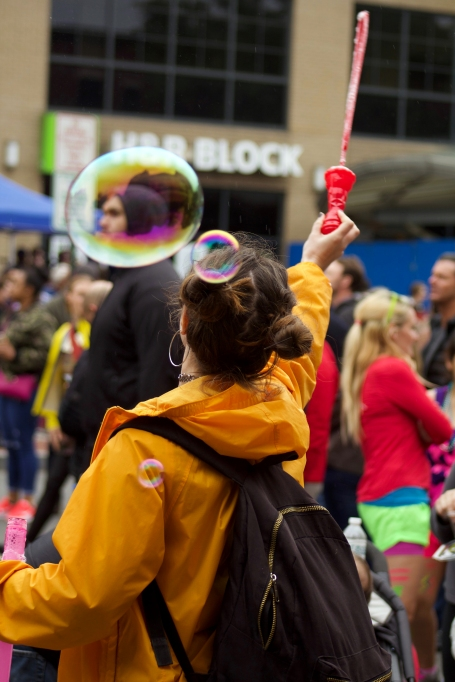 Funk Parade attendees did not let the rain ruin their fun! (Julia Lerner/Writer's Bloc)