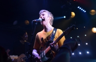 Evan Stephens Hall brought high energy and emotion to Rock & Roll Hotel during Pinegrove's sold out show Saturday, April 29, 2017 (Jordan Stovka/Bloc Reporter).
