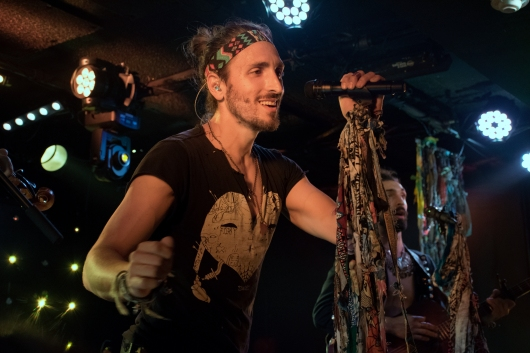 Austin Bisnow of Magic Giant returns to his D.C. roots for the band's dance-filled set at Rock And Roll Hotel Thursday night (Jordan Stovka/Bloc Reporter).