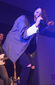 K. Flay kept the crowd engaged at SEE Presents: The Stamp All Niter. There was no shortage of dancing, hair flipping and head banging as the crowd encouraged her by singing along to every song. (Miranda Rosen/Bloc Photographer)