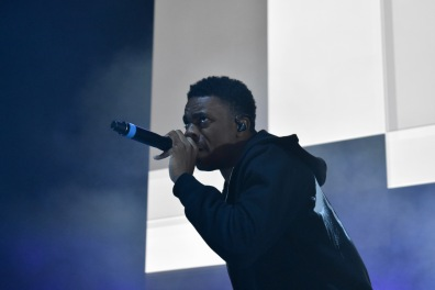 Vince Staples performs on stage at Art Attack XXXV on May 4. (Sara Karlovitch/Bloc Reporter)