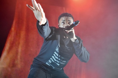 Vince Staples performs on stage at Art Attack XXXV on May 4 (Sara Karlovitch/Bloc Reporter).