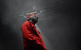 Lil Yachty performs on stage at Art Attack XXXV on Friday, May 4. (Sara Karlovitch/Bloc Reporter)