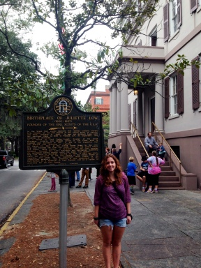 Me standing outside of the Home of Juliette Gordon Low, the founder of Girl Scouts, in 2015. (Photo Courtesy of Melissa Karlovitch)