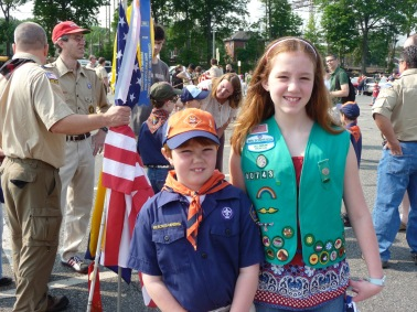My brother and I in our scouting uniforms. (Photo courtesy of Melissa Karlovitch)