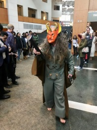 This devil costume was made by design students in a University of Maryland class solely built around designing the costumes for this performance. (Nicole Zibelman/ Bloc Writer)