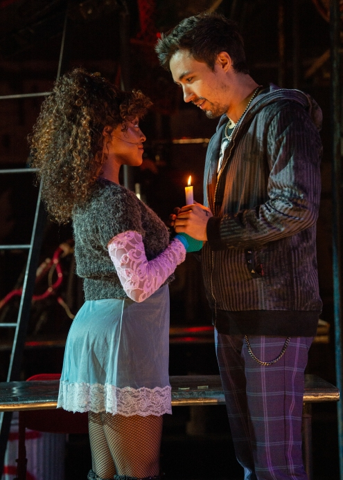 (L to R) Aiyana Smash, Coleman Cummings, RENT 20th Anniversary Tour. (Amy Boyle)